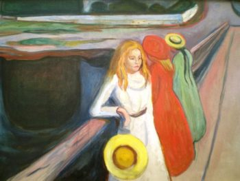 Girl on a Bridge | Edvard Munch | oil painting