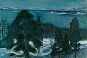 Winter Night | Edvard Munch | oil painting