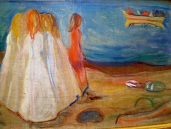 Girls on the shore | Edvard Munch | oil painting