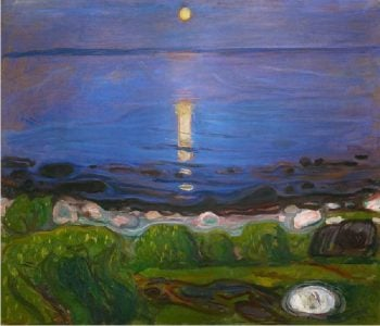 Summer Night at the Beach | Edvard Munch | oil painting