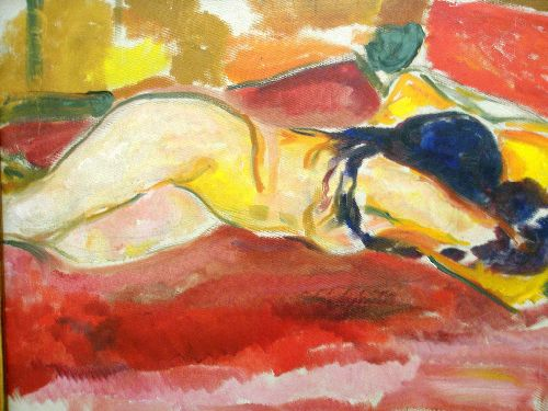 Nude Reclining | Edvard Munch | oil painting