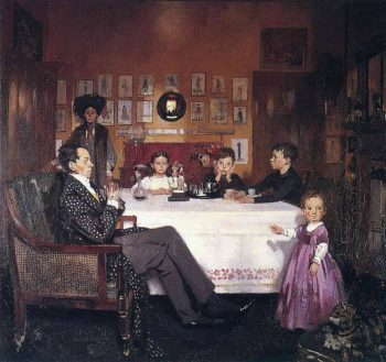 A Bloomsbury Family | Sir William Orpen | oil painting