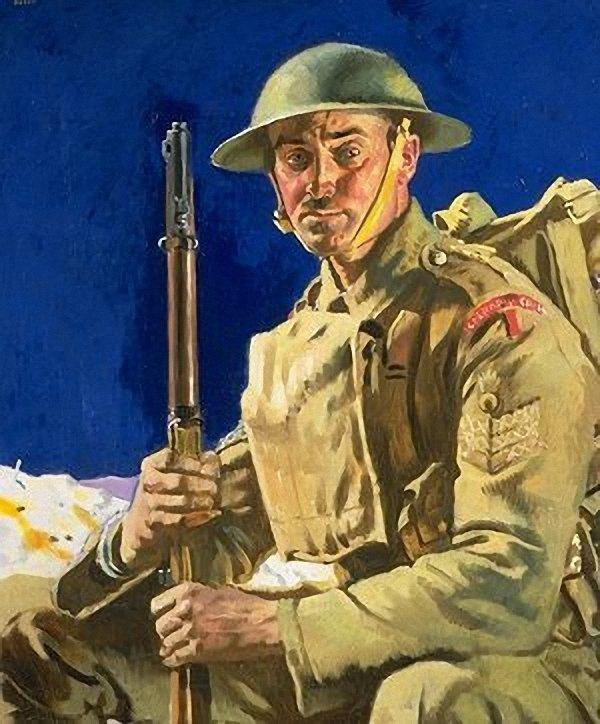 A Grenadier Guardsmen   Sir William Orpen   oil painting