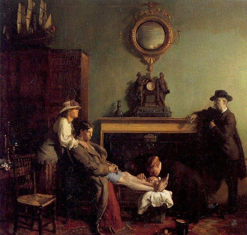 A Mere Fracture | Sir William Orpen | oil painting