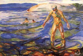 Bathing Man | Edvard Munch | oil painting