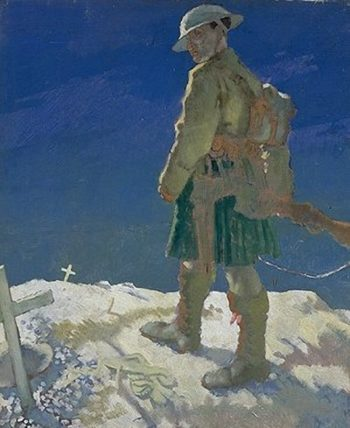 An Onlooker in France | Sir William Orpen | oil painting