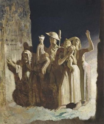 Bombing Night | Sir William Orpen | oil painting