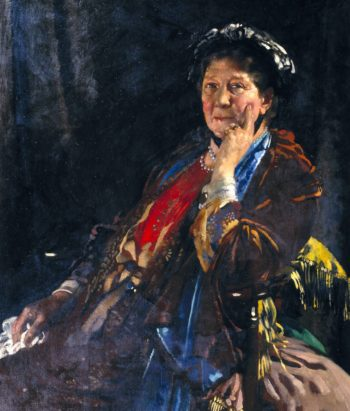 Dame Madge Kendal   Sir William Orpen   oil painting