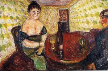 Brothel Scene Zum sussen Madel | Edvard Munch | oil painting