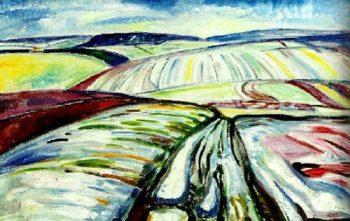 Aker I Sno | Edvard Munch | oil painting