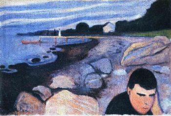 Melancholy | Edvard Munch | oil painting