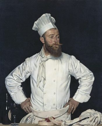 Le Chef de l'H?tel Chatham Paris | Sir William Orpen | oil painting