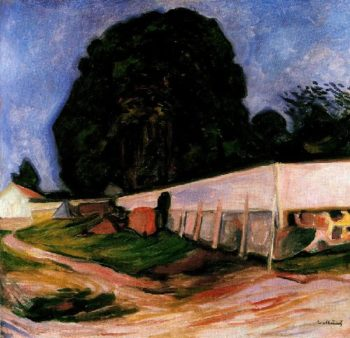 Summer Night at Aasgaardstrand | Edvard Munch | oil painting