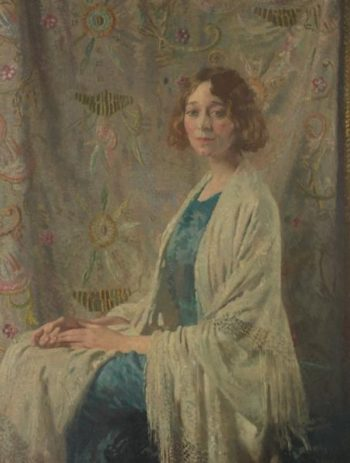 The Chinese shawl   Sir William Orpen   oil painting
