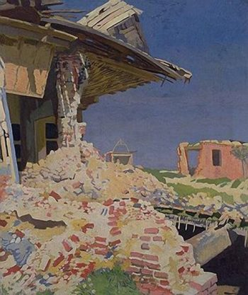 The Main Street Combles | Sir William Orpen | oil painting