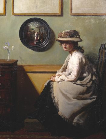 The Mirror | Sir William Orpen | oil painting