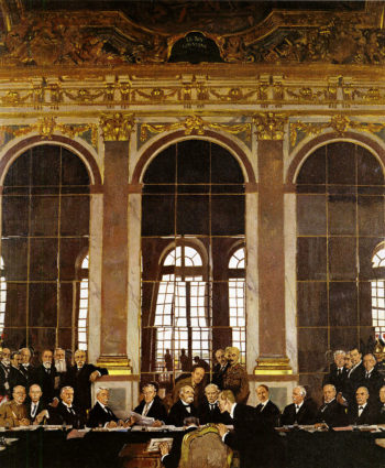 The Signing of Peace in the Hall of Mirrors Versailles | Sir William Orpen | oil painting