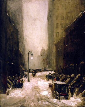 Snow in New York | Robert Henri | oil painting
