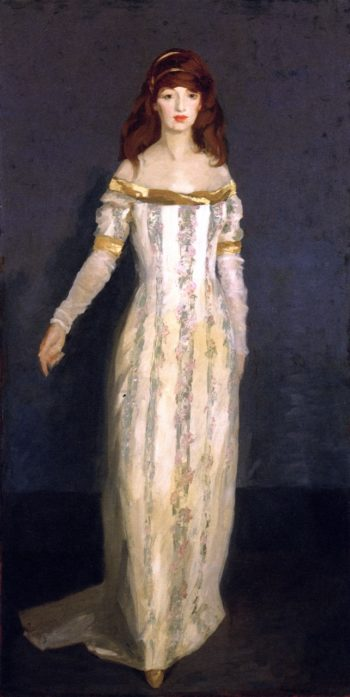The Masquerade Dress | Robert Henri | oil painting