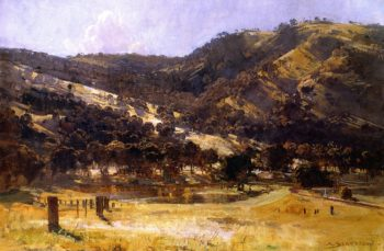 Afternoon LIght Goulburn Valley | Sir Arthur Streeton | oil painting