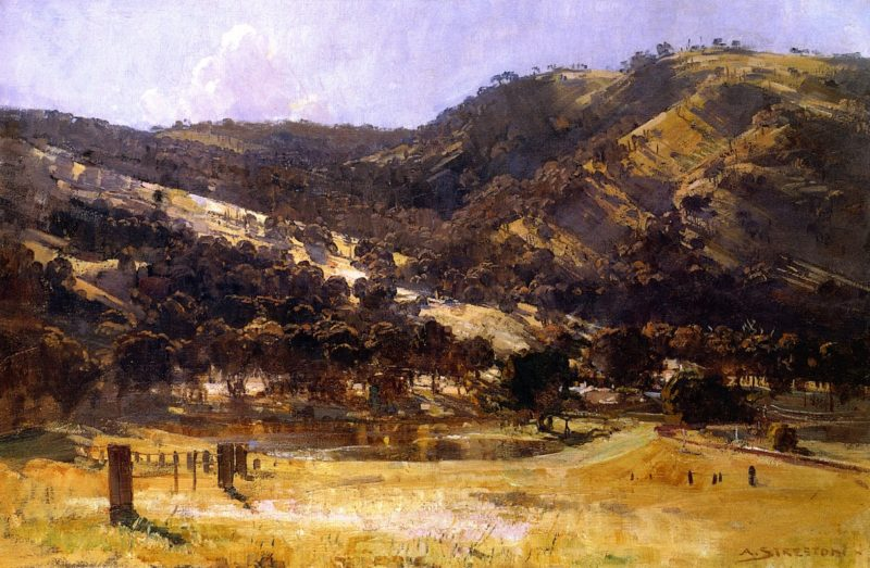 Afternoon LIght Goulburn Valley | Sir Arthur Streeton | oil painting