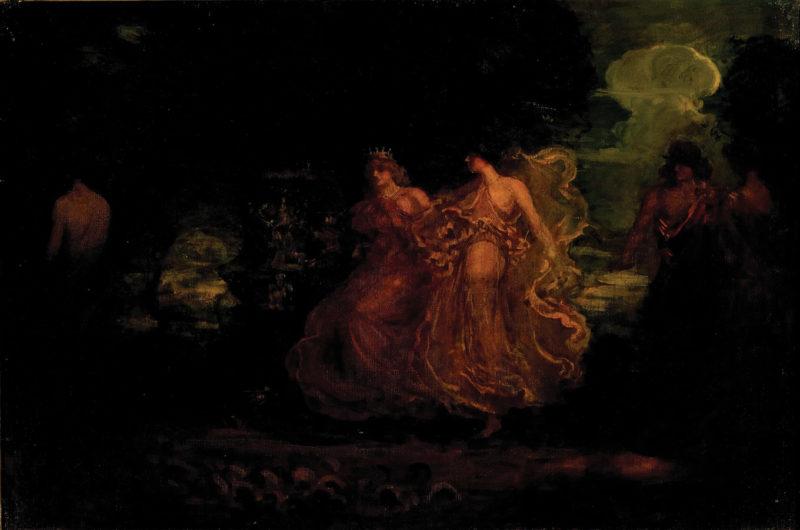 Allegory from Omar   Sir Arthur Streeton   oil painting
