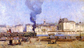 Boulogne | Sir Arthur Streeton | oil painting