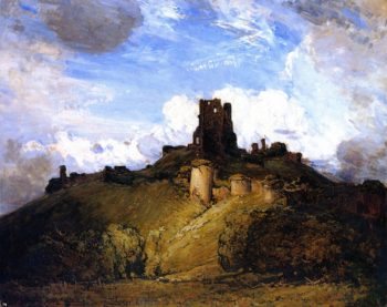 Corfe Castle | Sir Arthur Streeton | oil painting