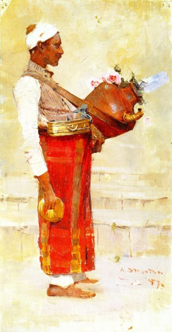 Egyptian Drink Vendor | Sir Arthur Streeton | oil painting