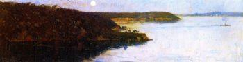 Evening Sirius and Athol Bay | Sir Arthur Streeton | oil painting