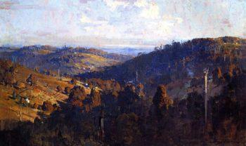 lley from Olinda Top   Sir Arthur Streeton   oil painting