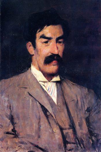 Professor Marshall Hall   Sir Arthur Streeton   oil painting