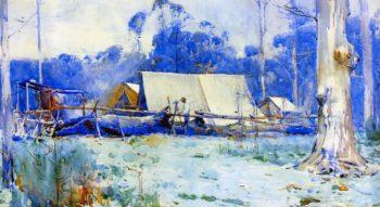 Surveyor's Camp | Sir Arthur Streeton | oil painting