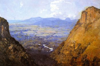 The Barron Gorge and Sugar Plains | Sir Arthur Streeton | oil painting