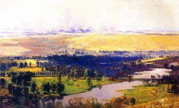 The Somme Valley near Corbie   Sir Arthur Streeton   oil painting