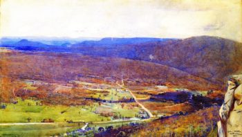 The Valley of the Mittagong   Sir Arthur Streeton   oil painting
