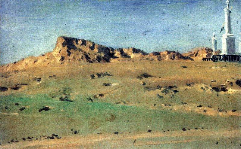Angle Turkish redoubt taken MD Skobelev August 30 but again abandoned the 31 th 1877 | Vasily Vereshchagin | oil painting