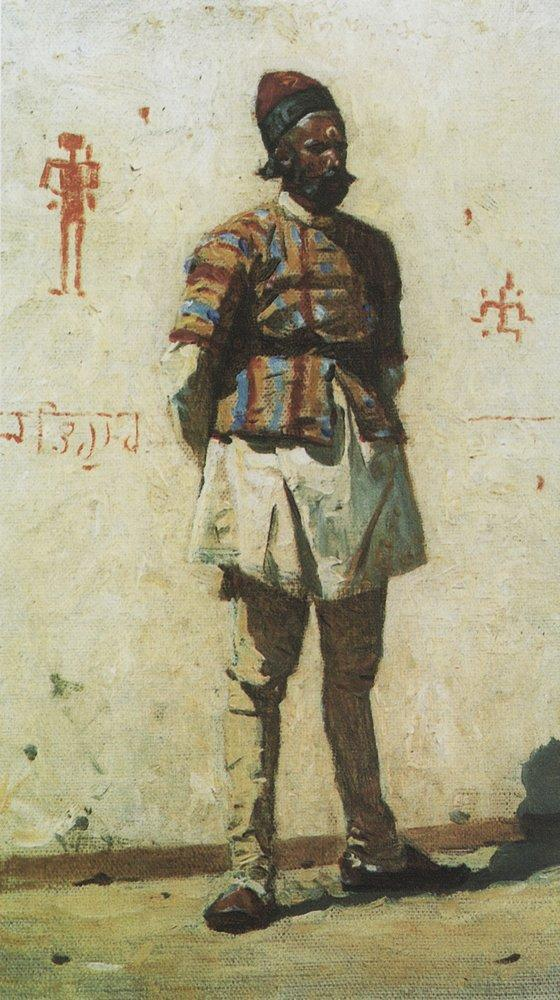 An Indian 1873 | Vasily Vereshchagin | oil painting