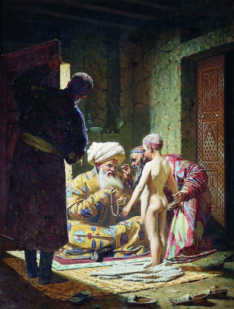 Ask the child slave 1872   Vasily Vereshchagin   oil painting