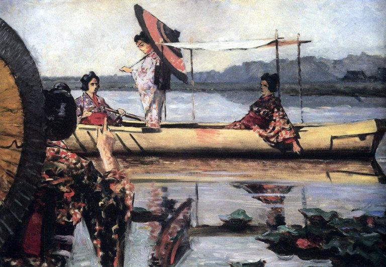 A Walk in the boat 1903 1904 | Vasily Vereshchagin | oil painting