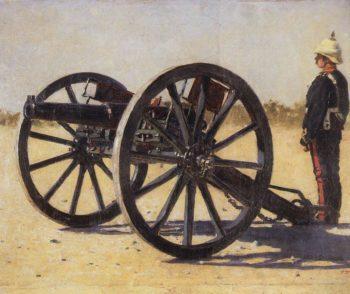 cannon 1882 1883 | Vasily Vereshchagin | oil painting