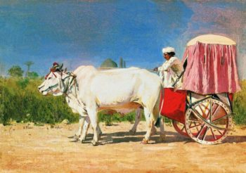cart in New Delhi 1875 | Vasily Vereshchagin | oil painting