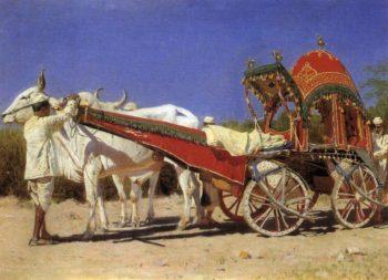 Cart rich people in Delhi 1875 | Vasily Vereshchagin | oil painting