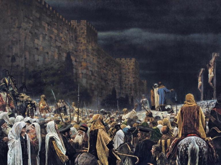 Crucifixion by the Romans 1887   Vasily Vereshchagin   oil painting