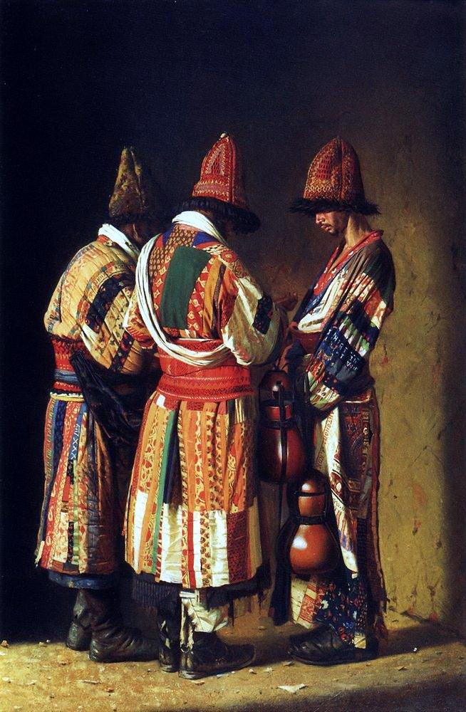 Dervishes in festive attire Tashkent 1869 1870 | Vasily Vereshchagin | oil painting
