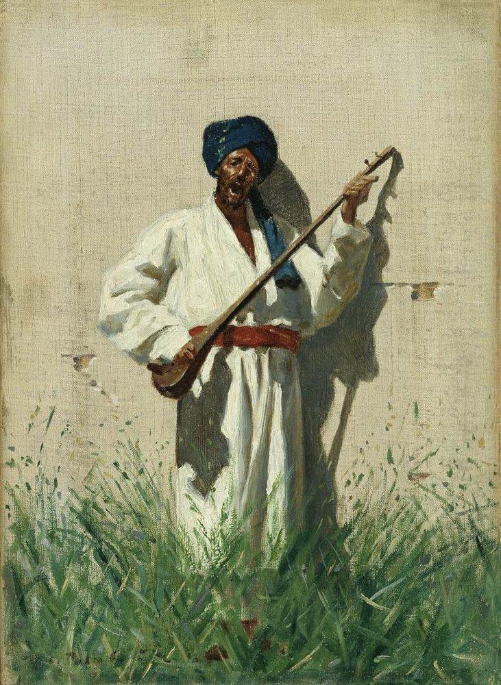 Dutarist 1869 1870 | Vasily Vereshchagin | oil painting