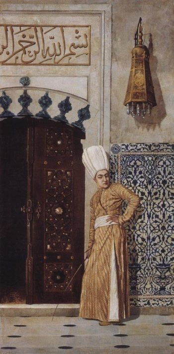 eunuch at the door of the harem 1870 | Vasily Vereshchagin | oil painting