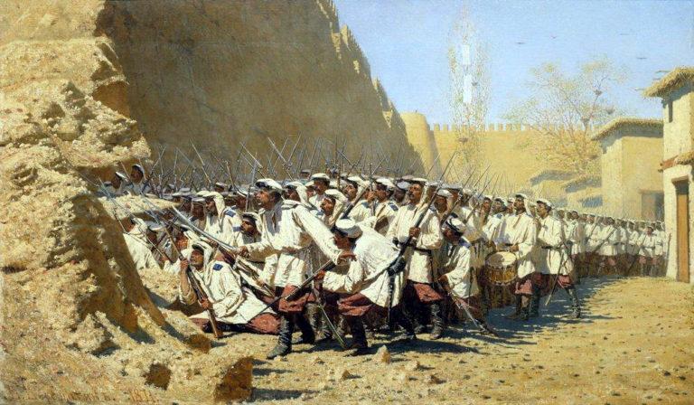 For ramparts Let the will 1871   Vasily Vereshchagin   oil painting