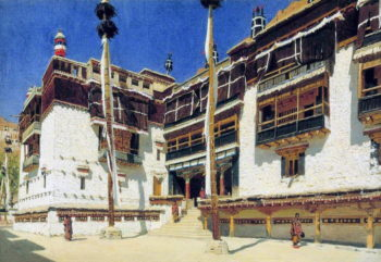 Hemis Monastery in Ladakh 1875 | Vasily Vereshchagin | oil painting
