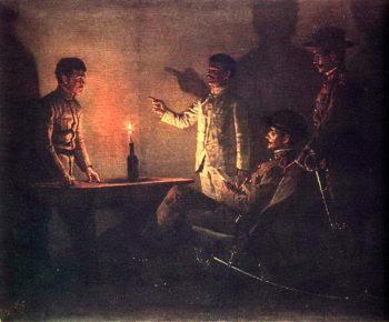 Interrogation defector Around 1901 | Vasily Vereshchagin | oil painting